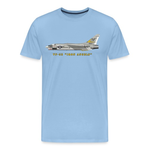 F-8J Crusader VF-53 Iron Angels - Men's Premium T-Shirt