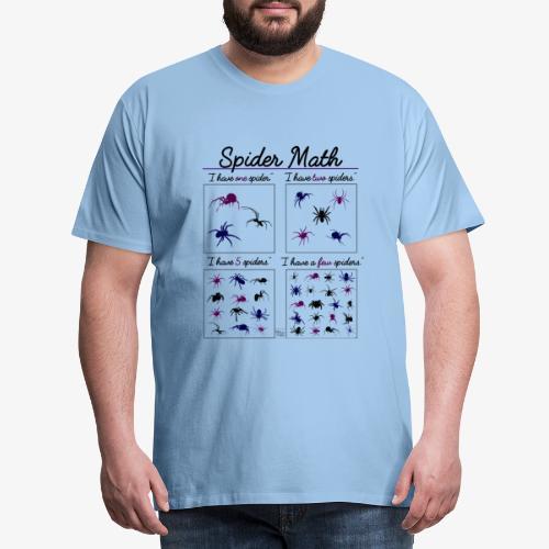Spider Math III - Miesten premium t-paita
