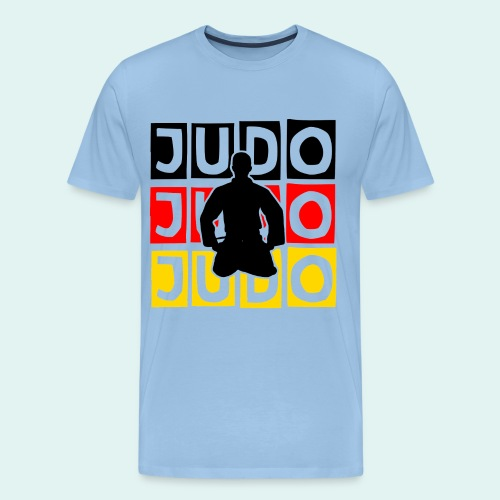 Judo Motiv Schwarz Rot Gold - Männer Premium T-Shirt