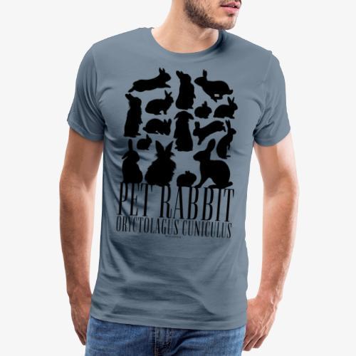 Pet Rabbit Black - Miesten premium t-paita