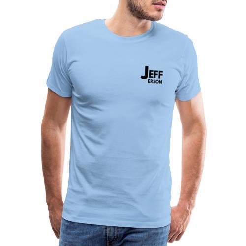 Jefferson logo klein (zwart) - Mannen Premium T-shirt