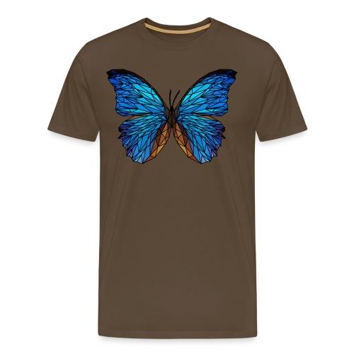 PAPILLON - LOW POLY (Outline) - T-shirt Premium Homme