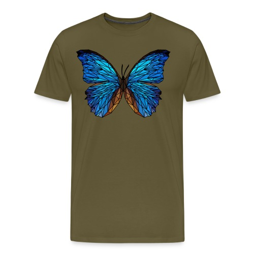 PAPILLON - LOW POLY (Outline) - T-shirt Premium Homme