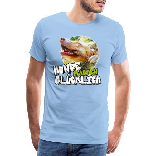 Hunde machen glücklich - Männer Premium T-Shirt