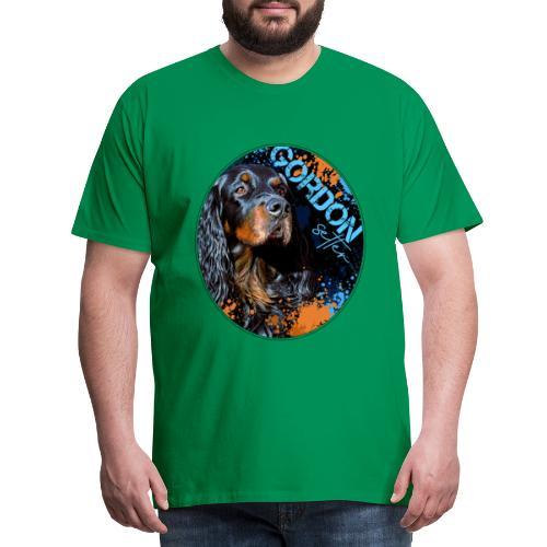 Gordon Setter Splash II - Miesten premium t-paita
