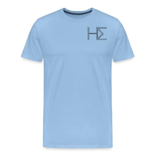 he logo circuit transp bl - Men's Premium T-Shirt