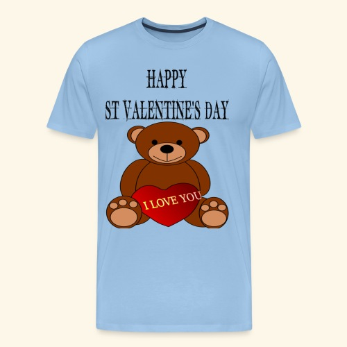 Love You Teddy Bear For Valentines Day - Men's Premium T-Shirt