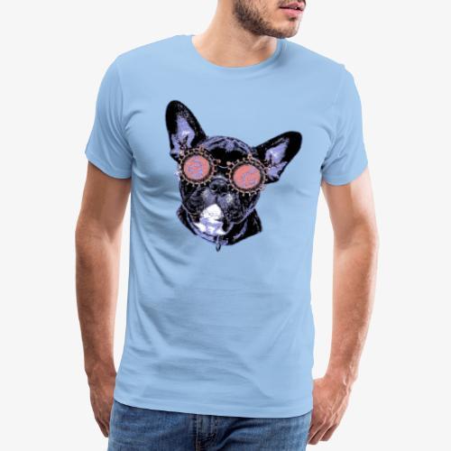 Frenchie Popart - Männer Premium T-Shirt