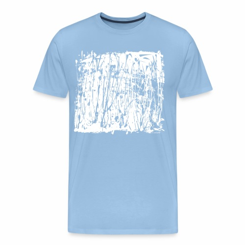 Paint Blob White - Men's Premium T-Shirt