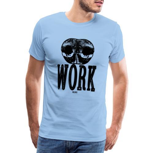 Nose Work Black - Miesten premium t-paita
