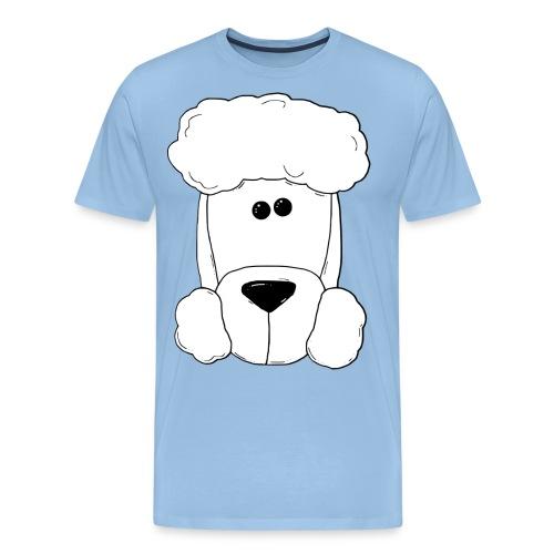 Pudel groß - Schriftzug vorne - Herren - Männer Premium T-Shirt