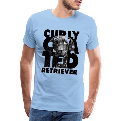 Curly Coated Retriever II - Miesten premium t-paita
