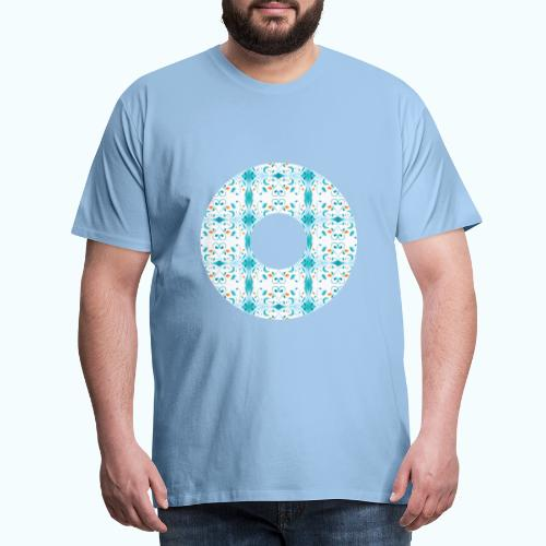 Hippie flowers donut - Men's Premium T-Shirt