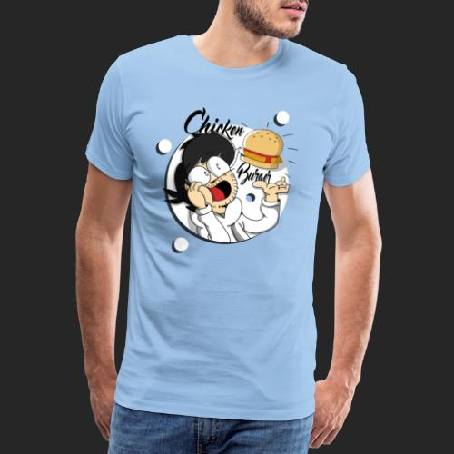 The Might Chicken Burger - Men's Premium T-Shirt