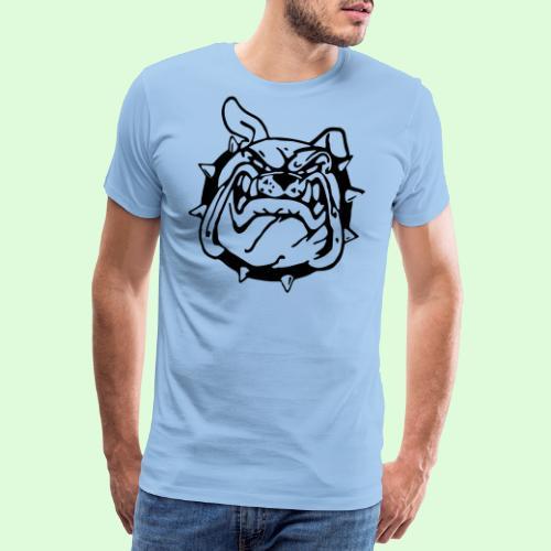 Bulldog souriant - T-shirt Premium Homme