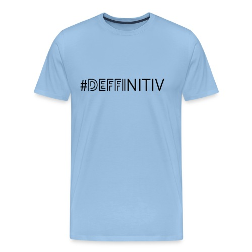 #Deffinitiv Black - Männer Premium T-Shirt