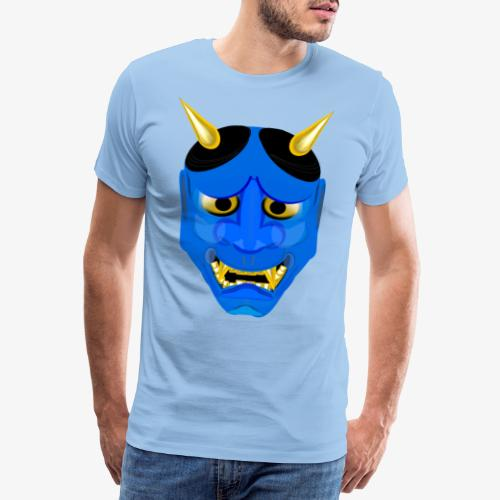 Demon Mask Blue - Men's Premium T-Shirt