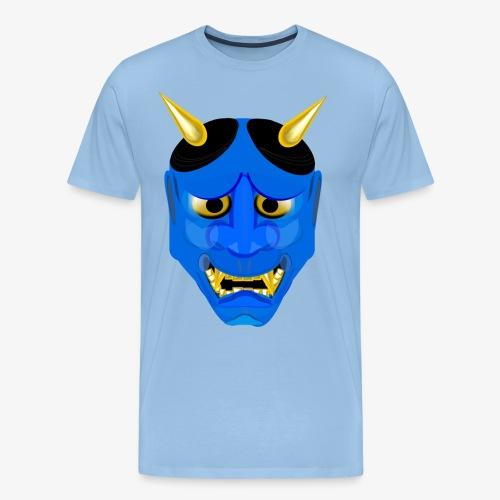 Demon Mask Blue - Men's Premium T-Shirt