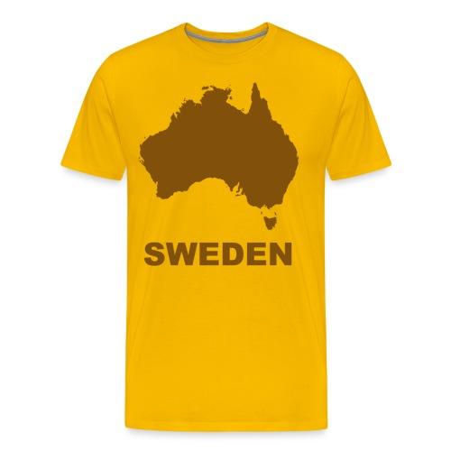 australia brown - Premium-T-shirt herr