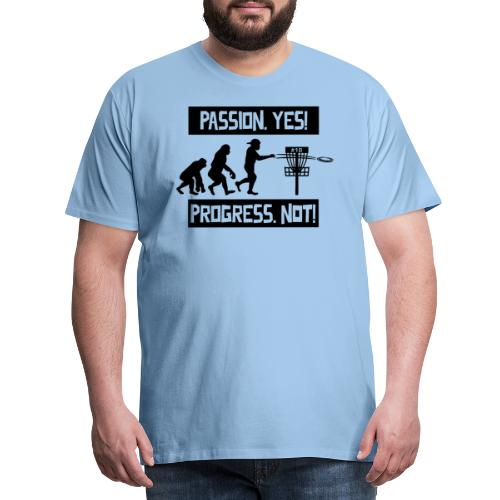 Disc golf - Passion, progress - Black - Miesten premium t-paita