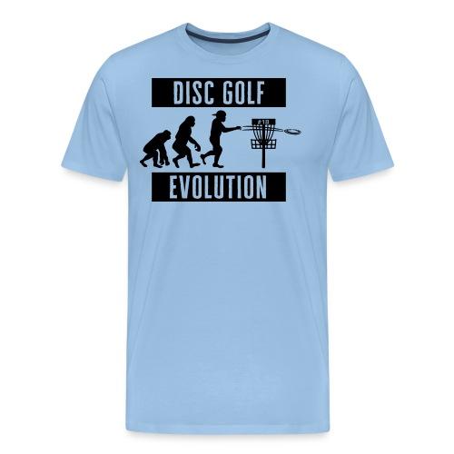 Disc golf - Evolution - Black - Miesten premium t-paita