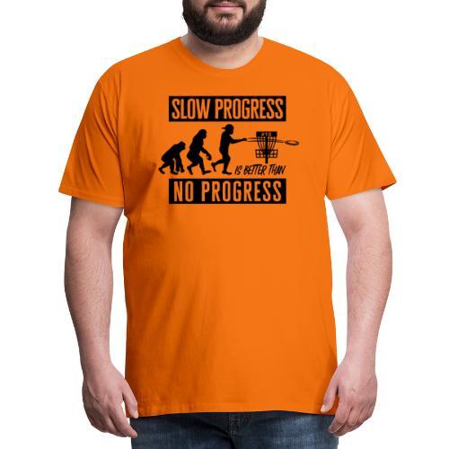 Disc golf - Slow progress - Black - Miesten premium t-paita