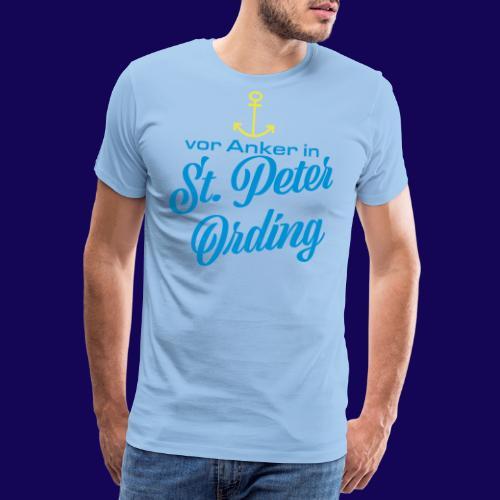 Vor Anke in St. Peter-Ording: Dein maritimes Motiv - Männer Premium T-Shirt