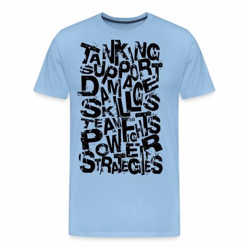 Typography of Legends - Men's Premium T-Shirt