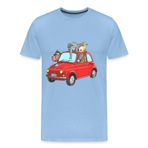 Giraffe - Elefant - Bulle im Auto Kinder - Männer Premium T-Shirt