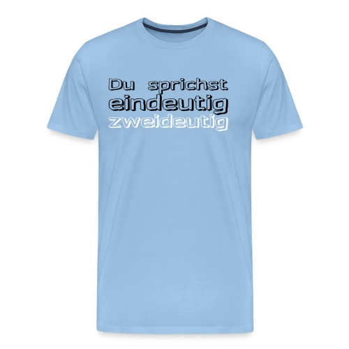 zweideutig - Männer Premium T-Shirt
