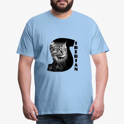 Siberian Cat S - Miesten premium t-paita