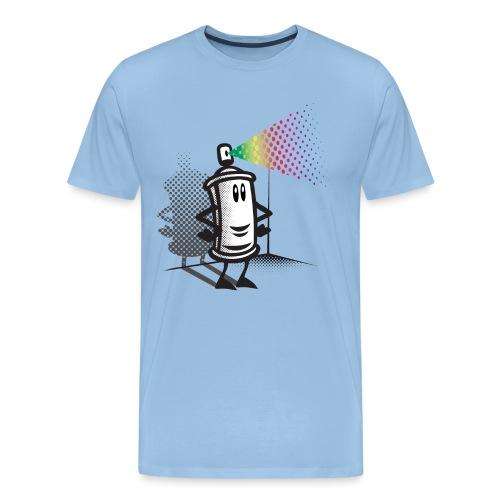 Happy paint spray - Men's Premium T-Shirt