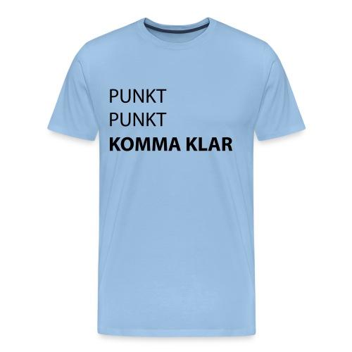 punktpunktkommaklar - Männer Premium T-Shirt