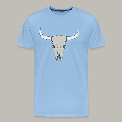 Crâne de buffle color - T-shirt Premium Homme