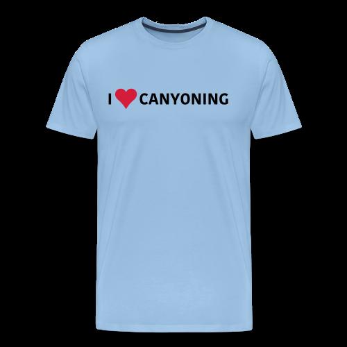 I Love Canyoning - Männer Premium T-Shirt