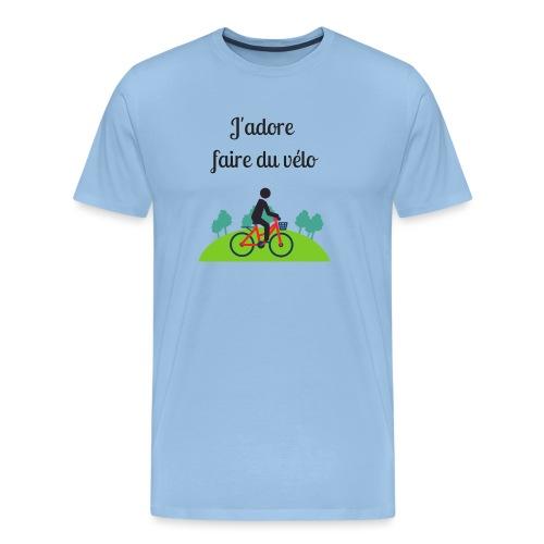 J'adore faire du vélo - T-shirt Premium Homme