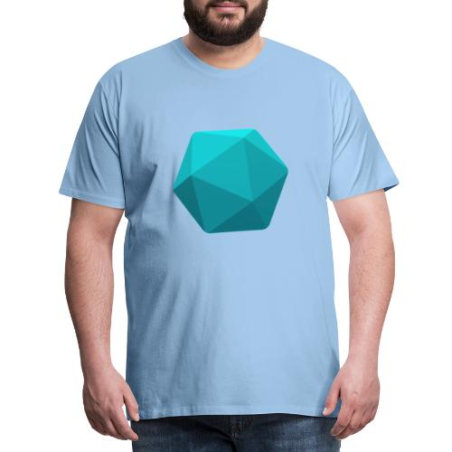 Blue d20 - D&D Dungeons and dragons dnd - T-shirt Premium Homme