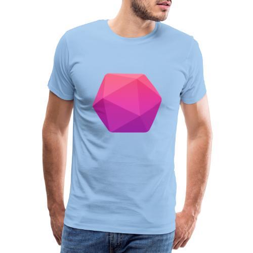 Pink D20 - D&D Dungeons and dragons dnd - T-shirt Premium Homme