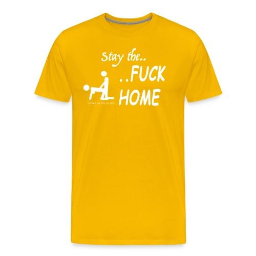 Stay the fuck home - logo - Männer Premium T-Shirt