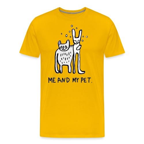 ME AND MY PET T-Shirt für die große Liebe - Männer Premium T-Shirt