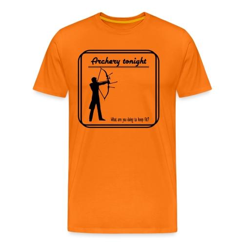 Archery tonight - Miesten premium t-paita