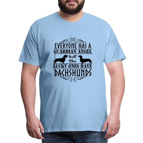 Dachshund WH SH Angels - Miesten premium t-paita