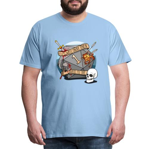 Devine je meurs - Donjons et dragons du MDN D & D - T-shirt Premium Homme