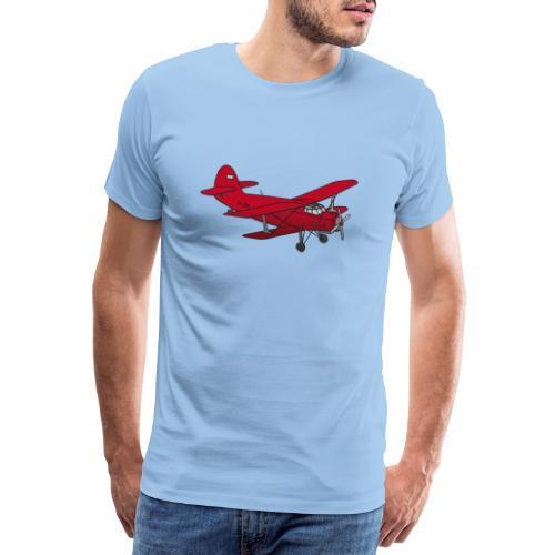 Doppeldecker Flieger rot - Männer Premium T-Shirt