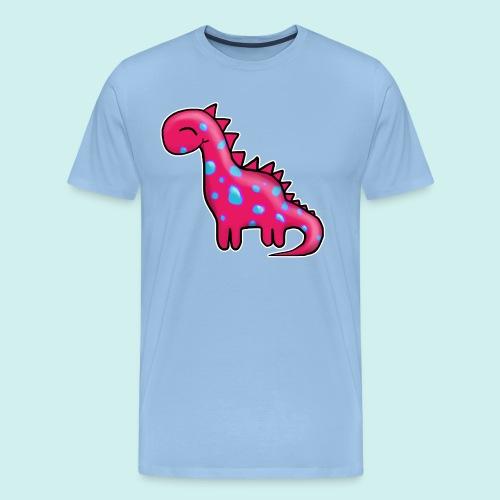 Dino Pink - Männer Premium T-Shirt