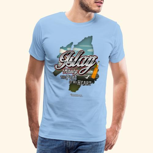 Whisky from Islay Peat of my Heart Tattoo Style - Männer Premium T-Shirt
