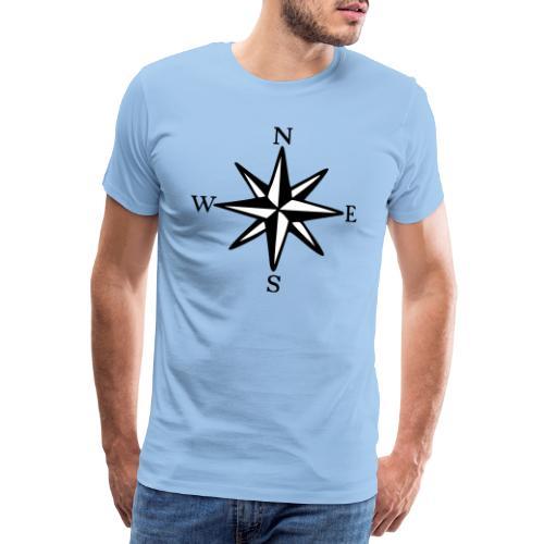 Windrose mit Himmelsrichtungen Segeln Segler - Männer Premium T-Shirt