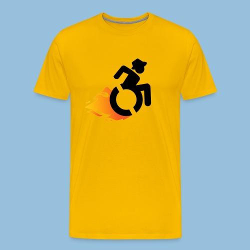 Roller met vlammen 016 - Mannen Premium T-shirt