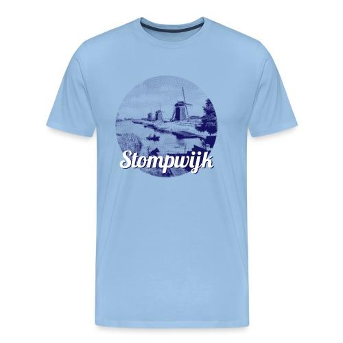 Stompwijk blauw - Mannen Premium T-shirt