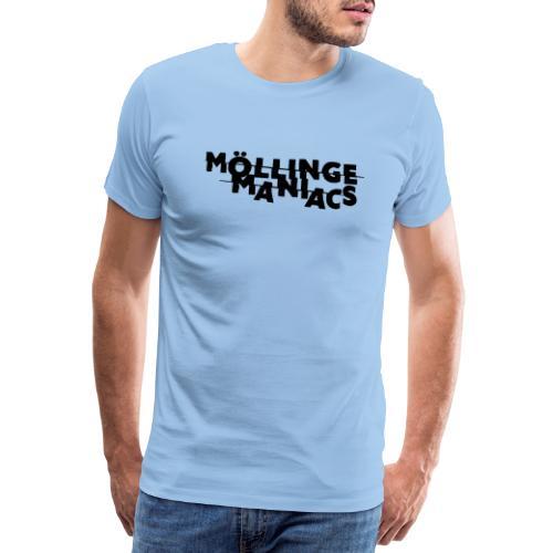 Möllinge Maniacs svart logga - Premium-T-shirt herr